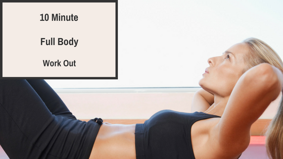 10-Minute No-Equipment Home Workout, Full Body Exercise